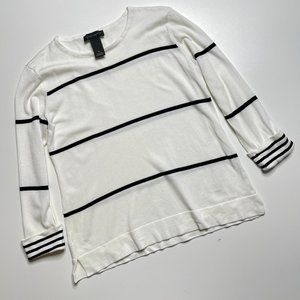 Investment Lightweight Womans Sweater Black White
